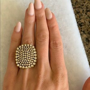 BCBG Max Azria Cocktail Ring sz 8